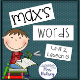 Journeys Third Grade: Max's Words
