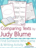 Judy Blume Author Study {Comparison & Contrast Writing and Game}