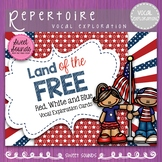 4th of July Land of the Free!  {Vocal Exploration Cards FREEBIE}