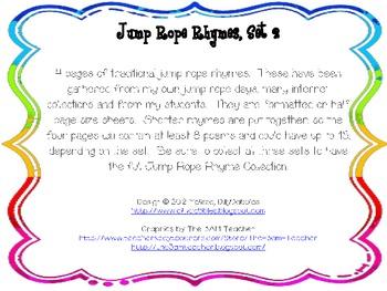 Jump Rope Rhymes, Set 2