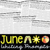 June Journal Writing Prompts Booklet: Grades 5-10 (25 prom