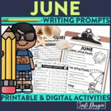 June / Summer Mega-Writing Packet{Task Card Prompts, Poste