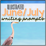 June and July Writing Journal Prompts { 52 total prompts! }