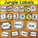 Jungle Theme Labels