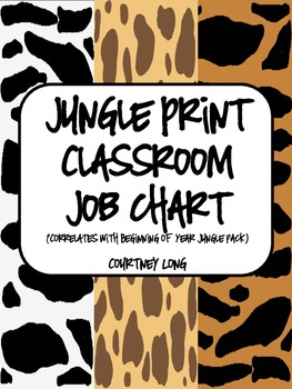 EDITABLE Jungle Print Classroom Job Chart