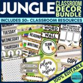 Jungle / Safari Theme EDITABLE Classroom Essentials-34 Pri