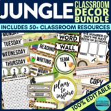 JUNGLE / SAFARI / ANIMALS Classroom Theme EDITABLE Decor 3