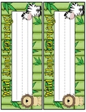 Jungle Theme - Desk Nametags/Nameplates