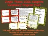 Jungle Theme Grade Four CCSS Complete Vocabulary Program