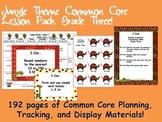 Jungle Theme Grade Three Common Core Lesson Planning Pack