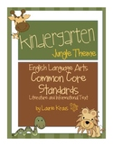 Jungle Theme Kindergarten Common Core