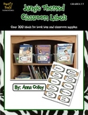Jungle Themed Classroom Labels for Book Bins and Supplies