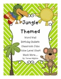 Jungle Themed Classroom Word Wall, Birthday, Classroom Job