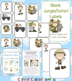 Jungle/Safari Themed Blank Classroom Labels - 48 pages