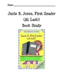 Junie B. Jones, First Grader At Last Novel Study