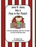 Junie B. Jones Has a Peep in Her Pocket {Literacy Companion Pack}