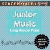 Junior Music Long Range Unit Plans - Grades 4 - 6