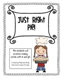 Just Right Pie - Phonics Sound   -ie and -igh