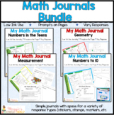 K-1 Math Journals Designed for the Common Core Prompts On