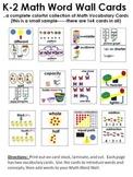 K-2 Math Vocabulary Word Wall Cards
