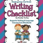 Writing Checklist K-2
