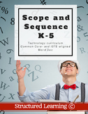 K-6 Technology Curriculum Scope and Sequence