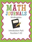 K Math Journals: Introduction Pack