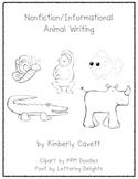 K/1 Nonfiction Writing Unit: Animals