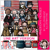 KK's American heroes Deluxe  by Melonheadz LINE ART