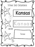 Kansas Read it, Trace it, Color it Learn the States presch