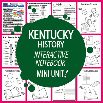 Kentucky Mini Unit-Interactive Notebook Activities-Audio I