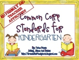 Kid Friendly Common Core Standards for Kindergarten