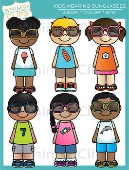 Kids Wearing Sunglasses Clip Art