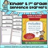 Kinder & 1st Grade Sentence Starters