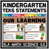 Kindergarten TEKS Bundle - I Can... and We will... Standar