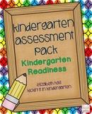 Kindergarten Assessment Pack