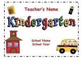 Kindergarten Back to School Night Presentation