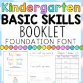 Kindergarten Basic Skills Book - Assessment - 28 pages