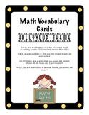 Kindergarten CCSS Math Vocabulary