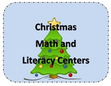 Kindergarten Christmas Math and Literact Centers