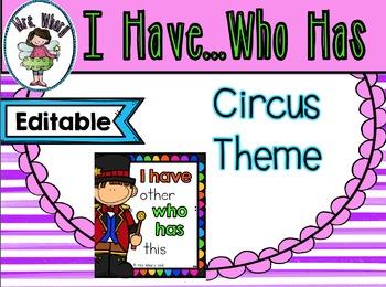 Kindergarten Circus sightword game