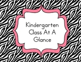 Kindergarten Class At A Glance Data Organization Notebook