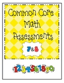 Kindergarten Common Core Assessment: Everyday Math Units 7&8
