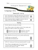 Kindergarten Common Core Assessment Pack
