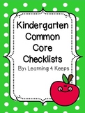 Kindergarten Common Core Checklists