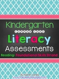 Kindergarten Common Core ELA Assessments - Reading: Founda