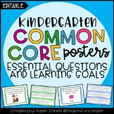Kindergarten Common Core {Essential Questions & Learning G