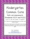Kindergarten Common Core Math Assessments- K.CC.4 and K.CC.5