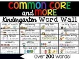 Kindergarten Common Core & More Content Word Wall