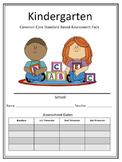 Kindergarten Common Core Standard Based Assessment Pack -T